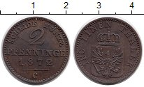 Изображение Монеты Германия Пруссия 2 пфеннига 1872 Медь XF