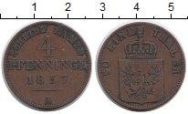 Изображение Монеты Пруссия 4 пфеннига 1857 Медь XF