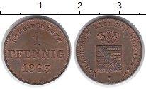 Изображение Монеты Германия Саксен-Майнинген 1 пфенниг 1863 Медь UNC-