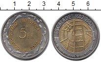 Изображение Монеты Швейцария 5 франков 2002 Биметалл UNC