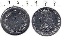 Изображение Монеты Азия Турция 5 лир 1979 Медно-никель UNC-