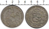 Изображение Монеты Южная Америка Перу 1 соль 1925 Серебро XF