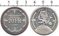 Изображение Монеты Европа Швейцария 20 франков 1999 Серебро Proof-
