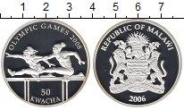 Изображение Монеты Малави 50 квач 2006 Серебро Proof Олимпийские игры, Бе