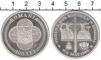 Изображение Монеты Румыния 100 лей 1999 Серебро Proof- Иоанн Павел II