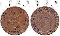 Изображение Монеты Европа Великобритания 1 пенни 1946 Бронза VF