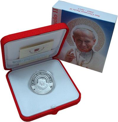 Изображение Подарочные монеты Европа Ватикан 5 евро 2015 Серебро Proof