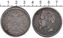 Изображение Монеты Европа Франция 5 франков 1869 Серебро XF-