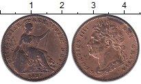 Изображение Монеты Европа Великобритания 1 фартинг 1822 Медь XF-