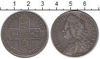 Изображение Монеты Великобритания 1/2 кроны 1745 Серебро XF- Георг II