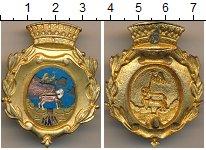 Изображение Монеты Италия Полицейский знак 0 Латунь VF Герб города (Сломана