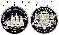 Изображение Монеты Латвия 10 лат 1995 Серебро Proof-