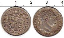 Изображение Монеты Великобритания 6 пенсов 1816 Серебро XF Георг III