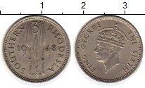 Изображение Монеты Великобритания Родезия 3 пенса 1948 Медно-никель XF