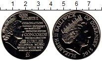 Изображение Монеты Гернси 5 фунтов 2015 Медно-никель UNC