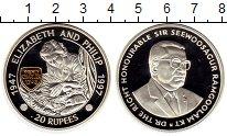 Изображение Монеты Маврикий 20 рупий 1997 Серебро Proof-
