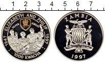 Изображение Монеты Замбия 1000 квач 1997 Серебро Proof