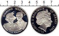 Изображение Монеты Остров Джерси 5 фунтов 2007 Серебро Proof
