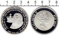 Изображение Монеты Фиджи 1 доллар 2010 Посеребрение Proof Карл II. Рестоврация