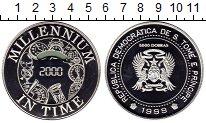 Изображение Монеты Африка Сан-Томе и Принсипи 5000 добрас 1999 Серебро Proof