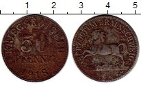 Изображение Монеты Германия Брауншвайг 50 пфеннигов 1918 Железо XF-