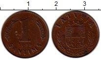 Изображение Монеты Европа Латвия 1 сантим 1938 Бронза XF