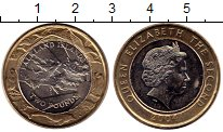 Изображение Монеты Фолклендские острова 2 фунта 2004 Биметалл UNC- 30-летие монетной че