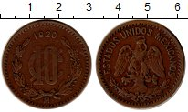 Изображение Монеты Северная Америка Мексика 10 сентаво 1920 Бронза XF