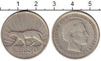 Изображение Монеты Южная Америка Уругвай 1 песо 1942 Серебро XF
