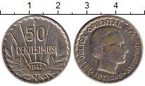 Изображение Монеты Уругвай 50 сентесим 1943 Серебро XF