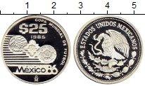 Изображение Монеты Северная Америка Мексика 25 песо 1985 Серебро Proof