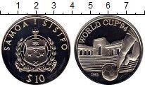 Изображение Монеты Самоа 10 долларов 1992 Серебро Proof Чемпионат Мира по фу