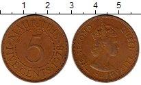 Изображение Монеты Маврикий 5 центов 1978 Бронза XF Георг VI