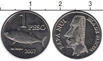 Изображение Мелочь Африка Остров Пасхи 1 песо 2007 Медно-никель UNC