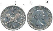 Изображение Монеты Австралия и Океания Новая Зеландия 3 пенса 1964 Медно-никель UNC-