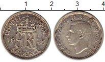 Изображение Монеты Великобритания 6 пенсов 1943 Серебро XF