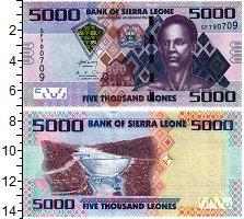 Изображение Банкноты Сьерра-Леоне 5000 леоне 2013  UNC
