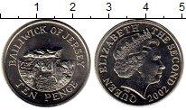 Изображение Монеты Великобритания Остров Джерси 10 пенсов 2002 Медно-никель UNC-