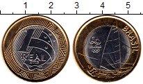 Изображение Монеты Южная Америка Бразилия 1 реал 2015 Биметалл UNC