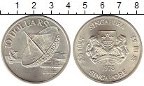 Изображение Монеты Сингапур 10 долларов 1978 Серебро UNC