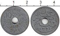 Изображение Монеты Африка Тунис 10 сантим 1942 Цинк XF