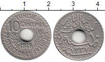 Изображение Монеты Тунис 10 сантим 1919 Медно-никель XF