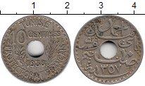 Изображение Монеты Тунис 10 сантим 1938 Медно-никель XF