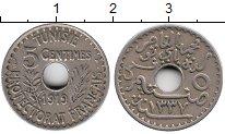 Изображение Монеты Африка Тунис 5 сантим 1919 Медно-никель XF