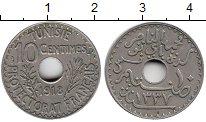 Изображение Монеты Тунис 10 сантим 1918 Медно-никель XF