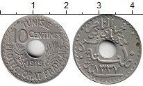 Изображение Монеты Африка Тунис 10 сантим 1919 Медно-никель XF+