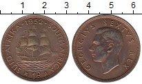 Изображение Монеты ЮАР 1 пенни 1952 Бронза UNC-
