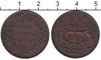Изображение Монеты Азия Индия 1/4 анны 1858 Медь XF