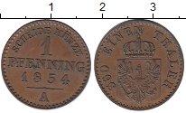 Изображение Монеты Германия Пруссия 1 пфенниг 1854 Медь XF+