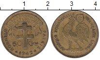 Изображение Монеты Французская Экваториальная Африка 50 сантим 1942 Латунь XF